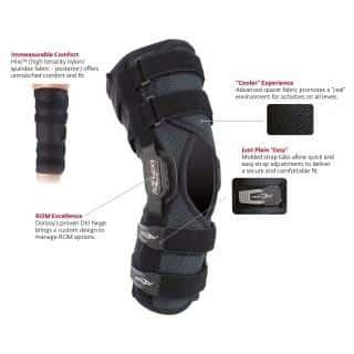 DONJOY Playmaker II knæsmerter | forstuvning | korsbånd | knæskinne